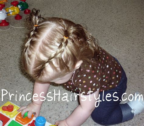 short braided style for babies tiny french braids baby hairstyles hairstyles for