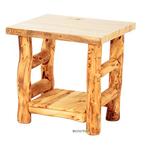 Rustic Bedroom End Tables Handcrafted Rustic Aspen Log Furniture And Pine Log