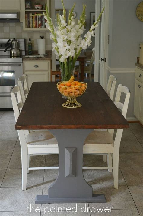 hometalk restaining a farmhouse table