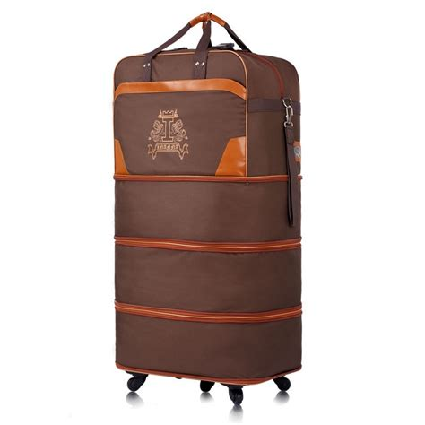 Foldable Travel Bag 2 36 two layer retractable travel bag foldable travel bags supper large trolley luggage for