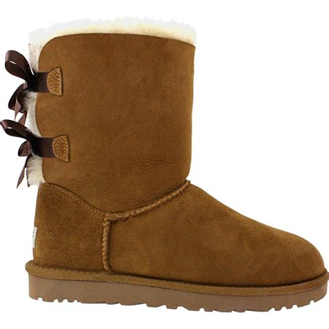 ugg bailey bow chestnut sheepskin s boot