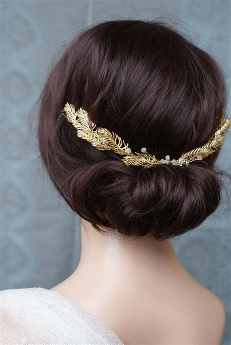 vintage bohemian wedding hair accessories gold hair vine wedding headpiece bridal hair accessory