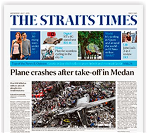 straits times recruit section image gallery new straits times singapore