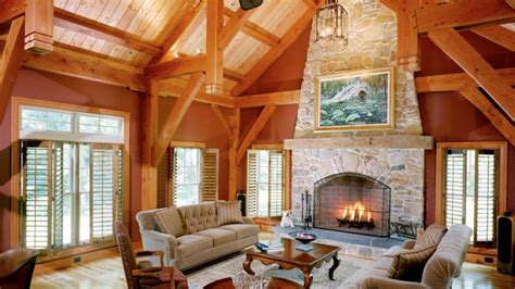 great room timberpeg timber frame post  beam homes