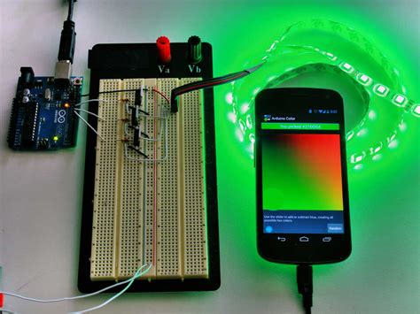 Led Blue Light Bulb Android Arduino Led Strip Lights Make