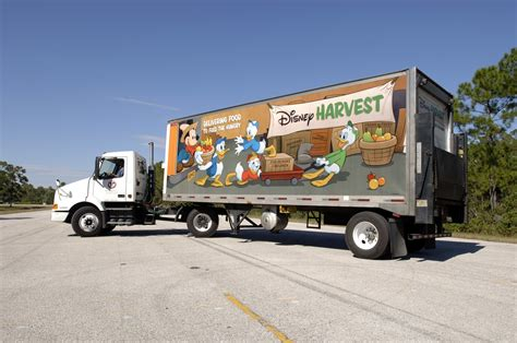 disney truck disney takes the to feed the children