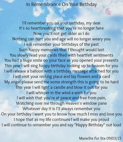 In Remembrance On Your Birthday The Grief Toolbox
