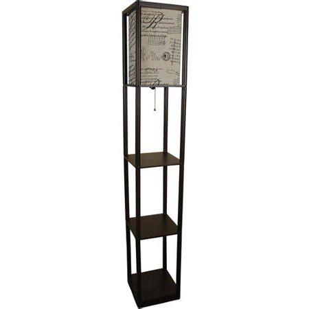 walmart floor ls with shelves mainstays shelf floor l with script shade walmart
