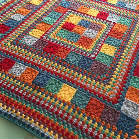 crochet and knit translation on pinterest crochet random rainbow blanket handmade in marbella crochet