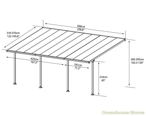 car porch dimensions palram feria 4m carport in 2 lengths greenhouse stores