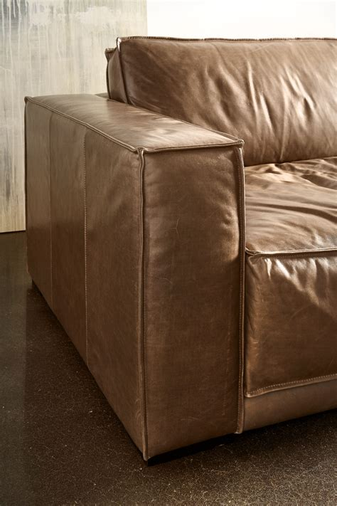 stanton leather sofa stanton sofa by american leather