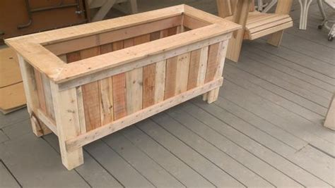 wooden planter plans how to make a wood pallet planter 42 diy ideas
