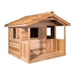 cedar shed log cabin cedar playhouse outdoor playhouses