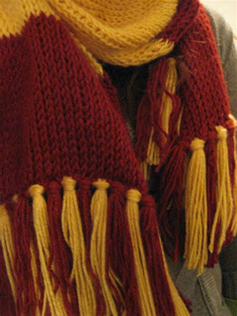 gryffindor scarf knitting pattern harry potter knits and crochets salt lessons