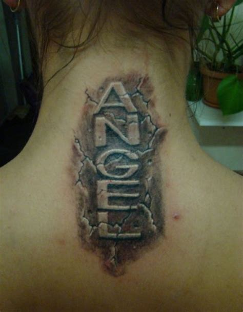 angel neck tattoo designs 55 neck letters