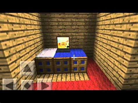 minecraft pe bedroom ideas minecraft pe bedroom ideas youtube