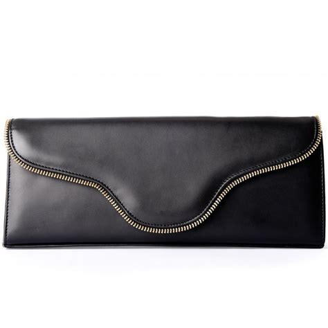kaiser anouschka womens black leather clutch bag