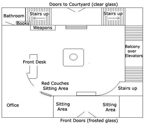 layout of buffy summers house hyperion lobby floor plan sims pinterest