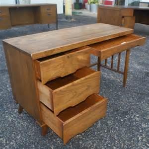 46 quot vintage ash italian style single pedestal desk ebay