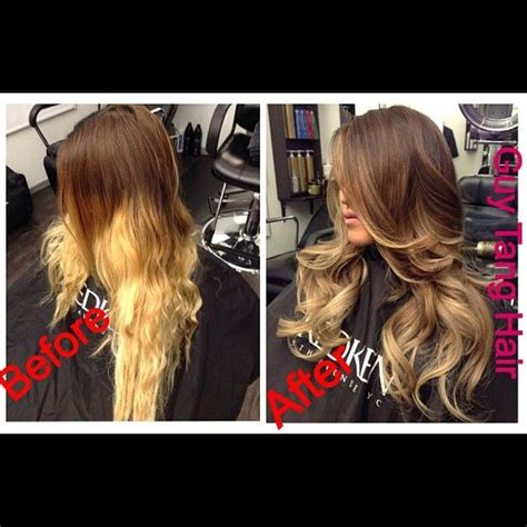 guy tang hair before and after before and after ombre color correction by guy tang