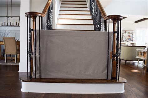 baby gate for top of stairs with banister and wall baby proofing 101 a giveaway project nursery