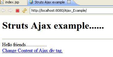 html div exle ajax with struts exle ajax exle with strutsstruts