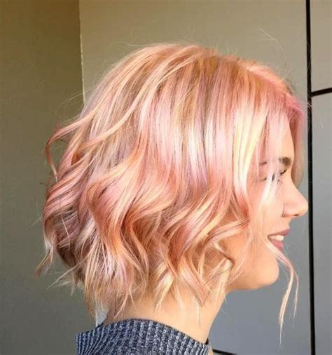 blonde bob pink highlights 40 short shag hairstyles that you simply can t miss