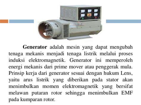 Mesin Penggerak Utama Prime Mover Original tugas teknik tenaga listrik generator ac