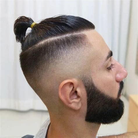 how to explain man bun haircut to barber barber haircuts styles slick with front ride side wave