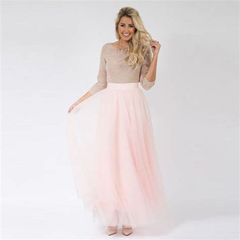 Diskon Rok Tutu 3 Warna pink tulle skirt a line floor length maxi skirt simple fashion tutu maxi skirt in skirts