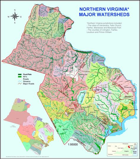 map of northern virginia maps prince william conservation alliance
