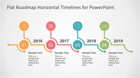 powerpoint timeline flat timelines powerpoint templates