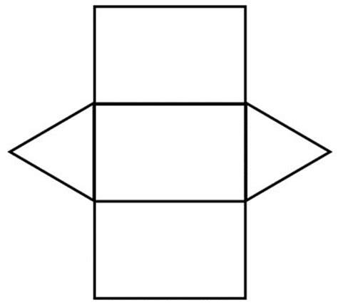 net pattern of triangular prism triangular prism net math pinterest