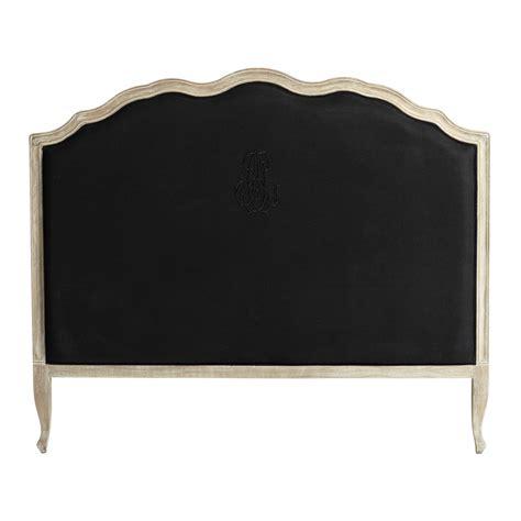 kopfteil bett schwarz kopfteil 160 cm aus leinen schwarz ombelline maisons du