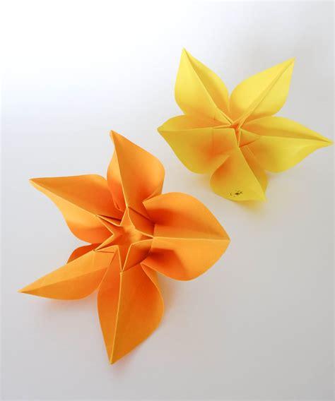Carambola Origami - origami tutorial carambola flower sprung
