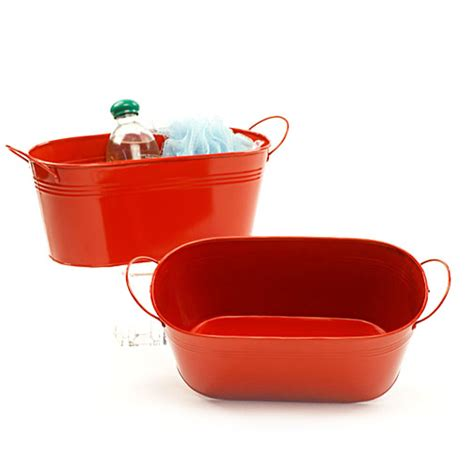 red bathtubs 12 quot oval red tub