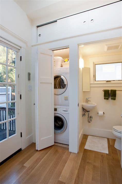 bathroom laundry combo room traditional  sliding doors