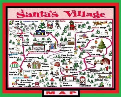 santa map santa s pole map guide a 12 days of present to all my mocpages