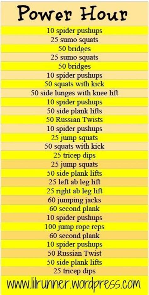 power hour workout healthy lifestyle