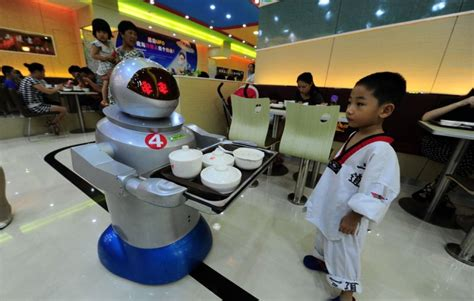 robotic wall china s wall e restaurants flaunt their robotic waiters