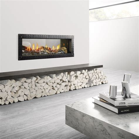 60 Gas Fireplace by Heat Glo Mezzo 60 See Through