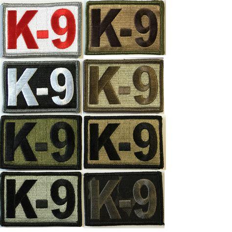 Rubber Patch Detasemen K9 K 9 Emblem Velcro Perekat Karet k 9 tactical patches 2 quot x3 quot