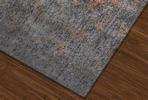 are polypropylene rugs soft antiquity charcoal silk polypropylene rug soft luxurious rugs abode company