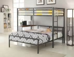 Bunk Bed Bedroom Set Cool Gun Metal Youth Bunk Bed Storage Bedroom Furniture Set Ebay