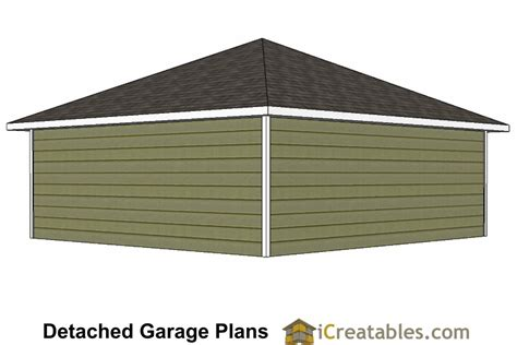 24 x 24 garage plans 24x24 garage plans with hip roof