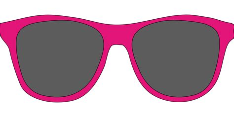 clipart occhiali sunglasses pink 183 free vector graphic on pixabay