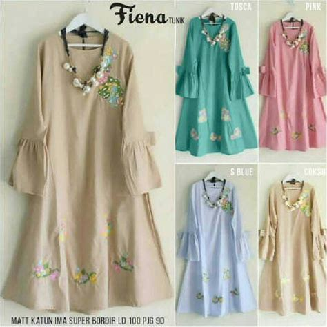 Rubi Tunik by Ready Fiena Tunik Ori Katun Ima Bordir Ld100 Pj90 98