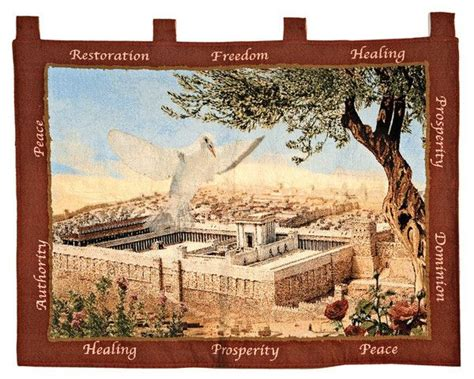 sacred material the of the tapestries of the cathedral of our of the books jerusalem tapestry with dove wall hangings products and