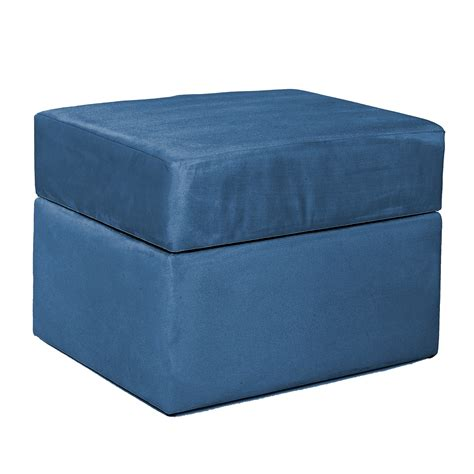 Navy Storage Ottoman Komfy Storage Ottoman Navy Blue Micro Baby Baby Furniture Gliders Rockers