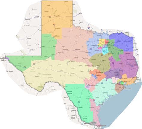 map of texas congressional districts new congressional districts for texas by lylycsm on deviantart